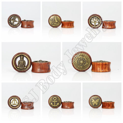 60pcs/lot Wood Ear Gauges Plugs Flesh Tunnel Stretcher Ear Gauge Expander Piercing Body Jewelry Pircing Wholesale 12-30mm<br><br>Aliexpress