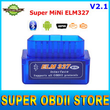 2016 V2.1 Newest Super Mini ELM327 Bluetooth Interface Works On Android Torque Bluetooth Elm 327 OBD2 OBD II Car Diagnostic Tool(China (Mainland))