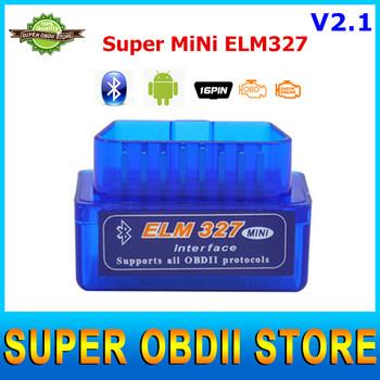 2016 V2.1 Newest Super Mini ELM327 Bluetooth Interface Works On Android Torque Bluetooth Elm 327 OBD2 OBD II Car Diagnostic Tool