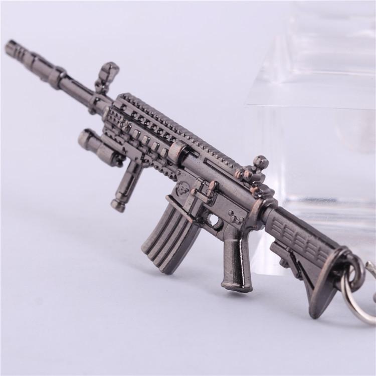 online games CrossFire CF Barrett gun weapon model Mens Keychain Key Chain Ring Bag Charm Men Fashion Jewelry Chaveiro Chaveiros(China (Mainland))