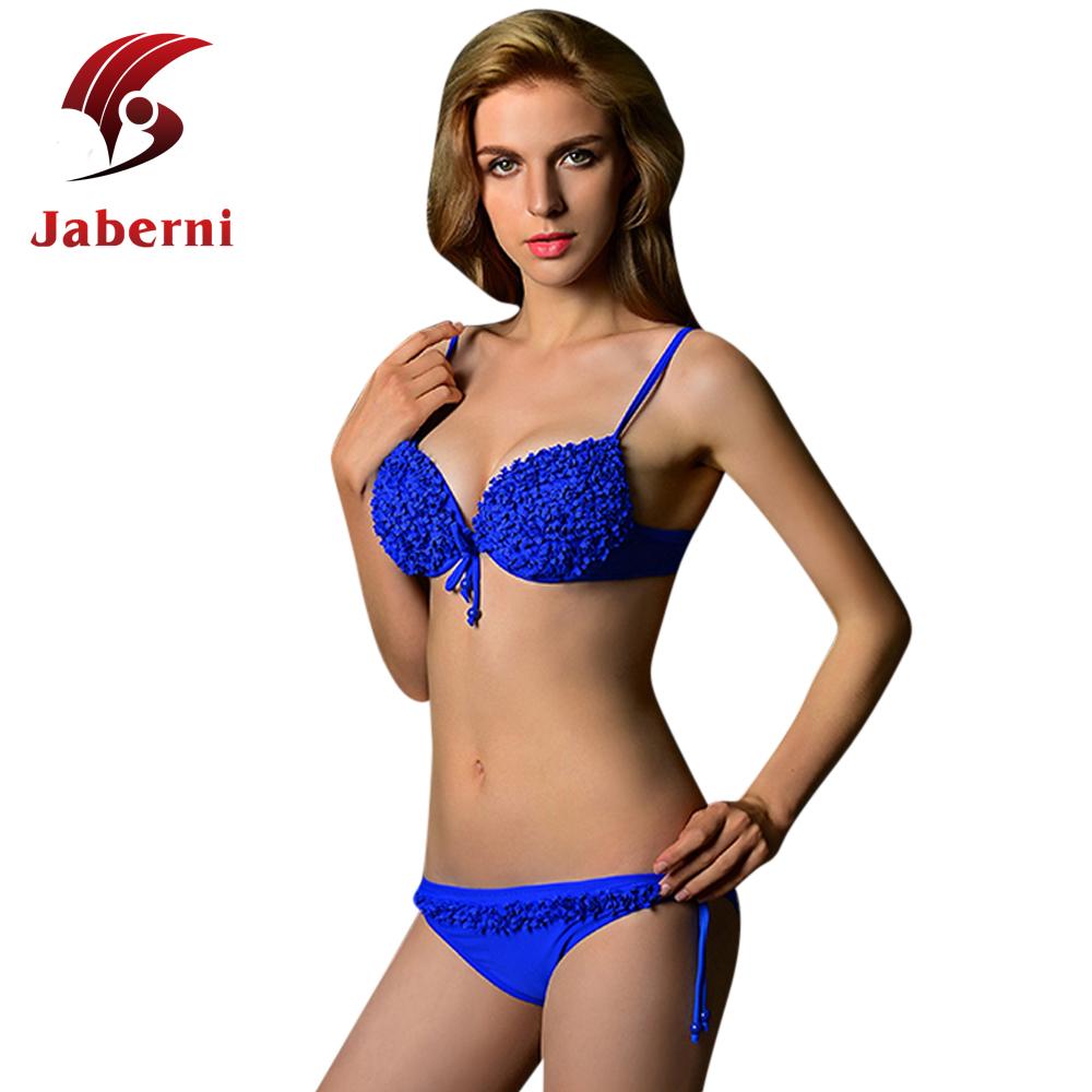 Buy Ruffle Lace Bikini Set Sheer France Romantic Nylon ...