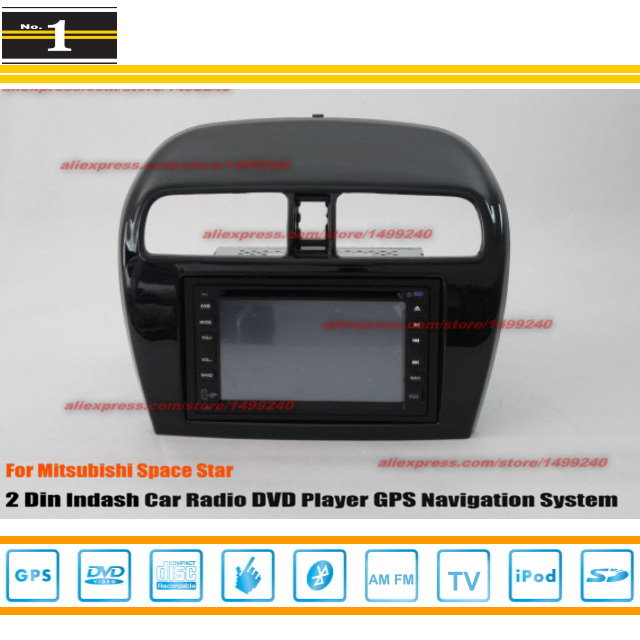 For Mitsubishi Space Star 2012 ~ 2014 - Radio CD DVD Player & GPS Navigation System / Double Din Car Audio Installation Set(China (Mainland))