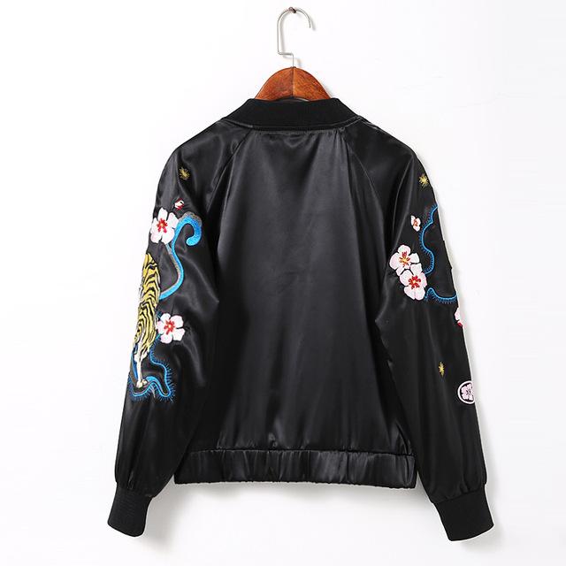 216 сувенир куртка шоу старинные sukajan стиль черный тигр куртку мода вышивка полета ...