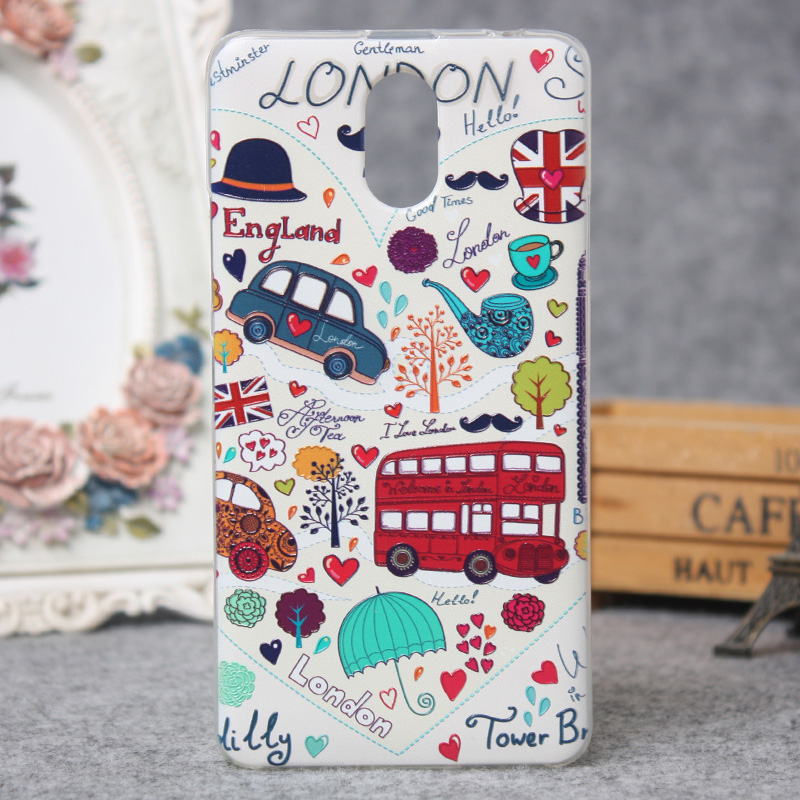 For Lenovo Vibe P1 M Silicon Case Painted High Quality Protector TPU Back Cover Case For Lenovo Vibe P1M Phone 3D Relief Cover()