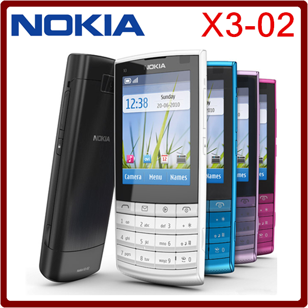 Best selling in Poland Original Nokia X3-02 3G Mobile Phone 5.0MP with Russian Keyboard polish language One year Warranty(China (Mainland))