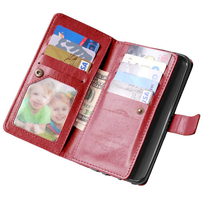 Mutil-Function Wallet Case For Samsung Galaxy S7 / Edge / Plus Leather Cover Unique 9 Card Slot Clear Photo Holder Flip Cases