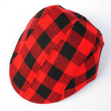 2015 Baby Berets Spring and Autumn Kids Fashion Berets Plaid Hats For Baby Boy And Girl Hat And Cap 17 Colors S4-7