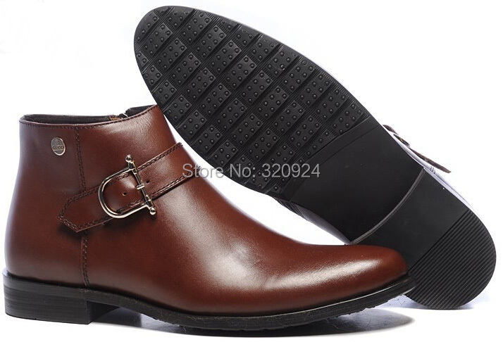 2014 brand men shoes flat high quality cheap G genuine leather boots for man free shipping<br><br>Aliexpress