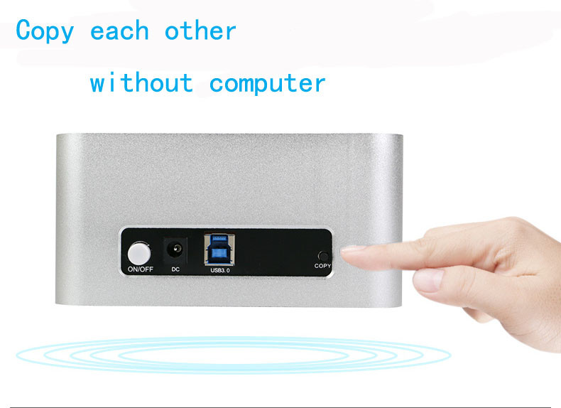 EU plug/AU plug/US plug sata 2.5 enclosure usb 3 hard drive enclosure 2.5 2 bay usb 3.0 hdd docking(China (Mainland))
