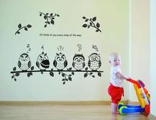 Buy Super Deal cartoon decals wall art diy children sticker Kids Vinyl Art Cartoon Owl Butterfly Wall Sticker Decor Home Decal XT for $2.95 in AliExpress store