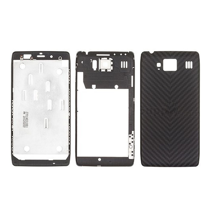 Free Shipping Original New Black Faceplate+Middleplate+Back Cover Replacement For Motorola RAZR HD XT925 Full Housing Cover(China (Mainland))