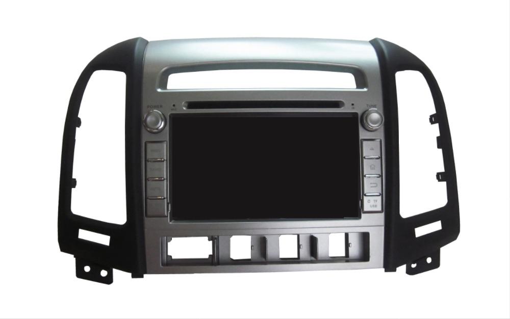 Quad Core 1024*600 Android 5.1 Car DVD GPS Navigation Player for Hyundai Santa Fe 2007-2011 Radio Wifi/3G steering wheel control(China (Mainland))