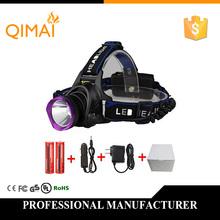 3000LM LED Headlamp CREE XML T6 3 Modes Rechargeable Headlight Head Lamp Spotlight Fishing+Charger(US EU UK)+18650 - Qidi Electronic Technology Co. store