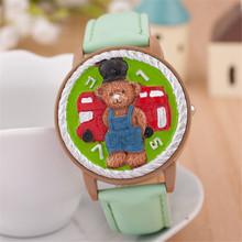 Recién llegado de las mujeres reloj de cuarzo, oso encantador impermeable relojes digitales mujeres. alta calidad de los niños de la historieta relojes de pulsera 2015