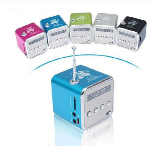 Portable Mini Speakers Support TF/U-Disk/FM Function with Digital Screen(China (Mainland))