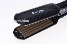 wholesale Professional titanium ceramic flat curling iron styler iron cone hair curler Waves Irons font b