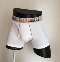 Original 2015 New CR7 Underwear Men Classic cuecas Boxers Men's Shorts Boxer Cotton Sexy Underpants Mens Breathable CR7 BK12(China (Mainland))