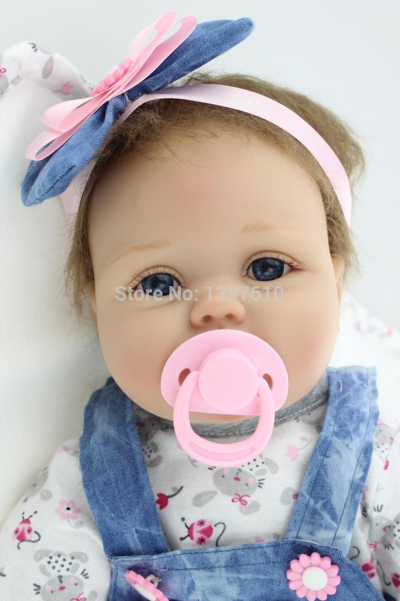 New 22Inch Soft Silicone Baby Alive Doll Lifelike Baby