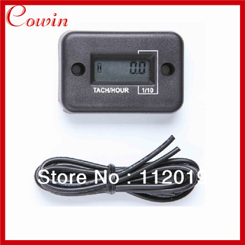 New waterproof LCD Tach Hour meter for 4 Stroke Motorcycle ATV Snowmobile Boat Free Shipping
