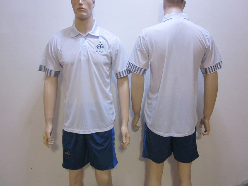^_^ wholesales soccer jerseys 12/13 seasons france away uniforms shirts and shorts Top quality embroidery LOGO free shipping