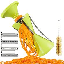 4 In 1 4-Blade Vegetable Fruit Twister Cutter Slicer Processing Kitchen Utensil Tool Green Color Vegetable Slicer 16*9cm(China (Mainland))
