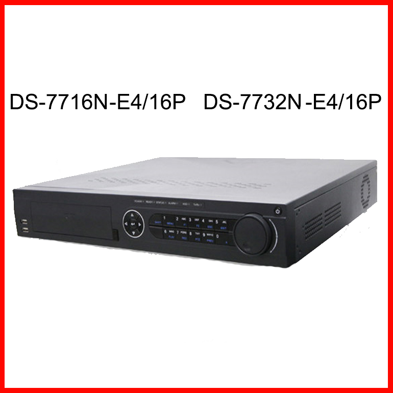 NVR POE 16 Ports 32CH DS-7732N-E4/16P HD 5MP NVR support 4 HDD<br><br>Aliexpress