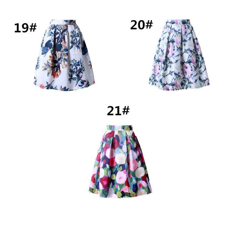 HTB1P38hJVXXXXXdXpXXq6xXFXXXt - GOKIC 2017 Summer Women Vintage Retro Satin Floral Pleated Skirts Audrey Hepburn Style High Waist A-Line tutu Midi Skirt