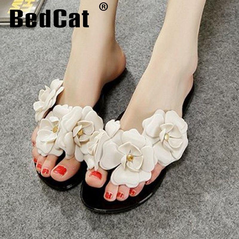 ladies summer Bowtie flower flat sandals sexy fashion female beach flip flops women mesh grey black shoes home P23525 size 34-39<br><br>Aliexpress