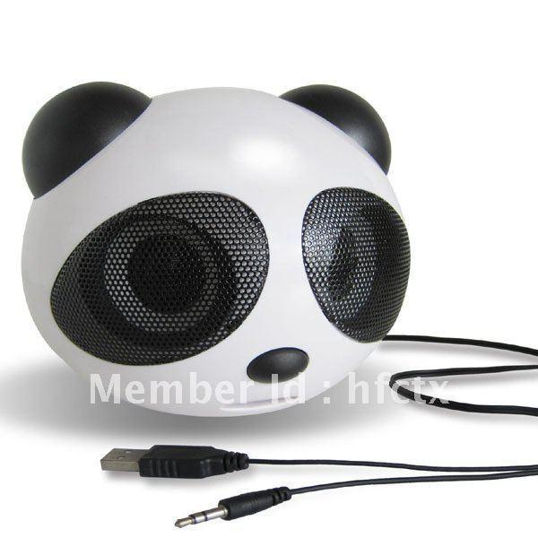 panda Style stereo Usb speaker for notebook