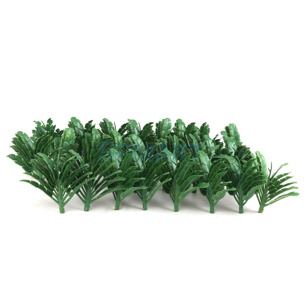 Traveller's Palm Trees Model Train Railroad Scenery 1:100 50pcs Green(China (Mainland))