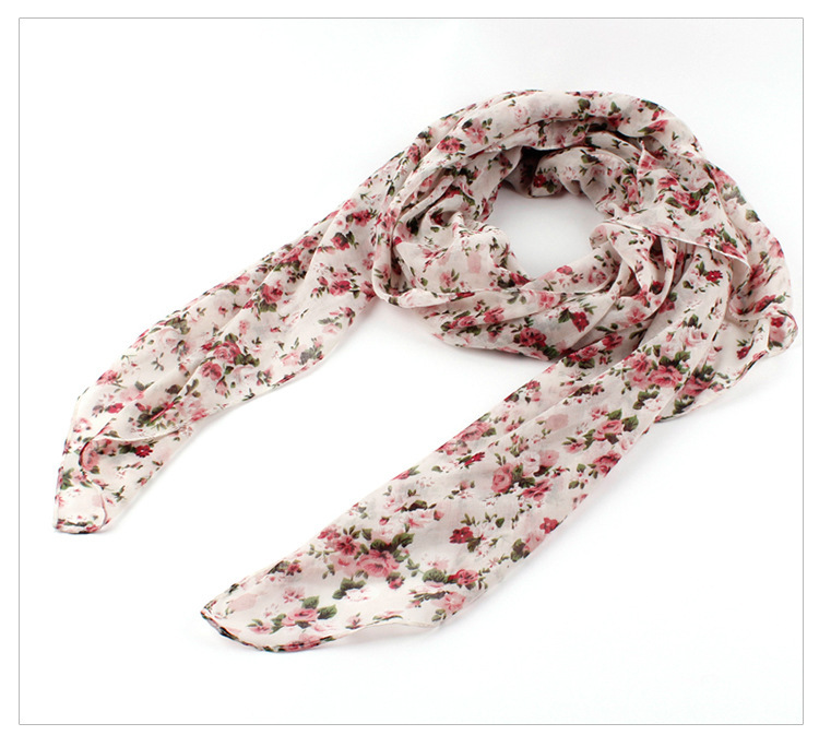 Fashion Women/Ladies Smaller Floral Scarf 2016 Spring Summer New Polyester Beach Shawl Wrap Scarves - Yiwu Accessories store