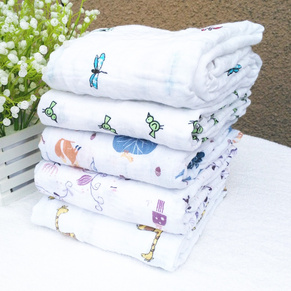 120x120cm/47*47'' Aden Anais Muslin Baby Swaddling Blankets Newborn Infant 100% Cotton Swaddle Towel Famous Multifunctional(China (Mainland))