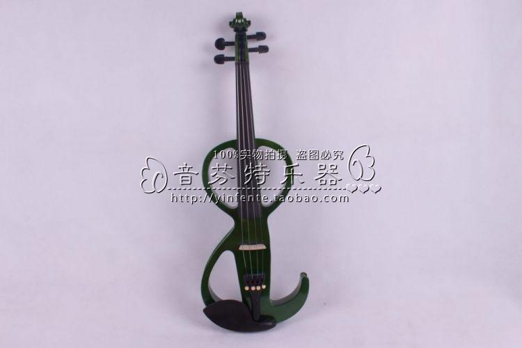 Electro-acoustic violin Good quality and noble electronic violin mute electric violin(China (Mainland))