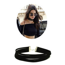 Buy ZOEBER New Multilayer Necklace Collar Necklaces Torques Velvet 5 multi layer Choker Black Necklaces Punk Jewelry women femme for $1.07 in AliExpress store