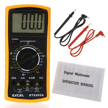 DT9205A AC/DC Professional Digital LCD Display Electrical Handheld Tester Digital Multimeter Multimetro LCR Meter Ammeter