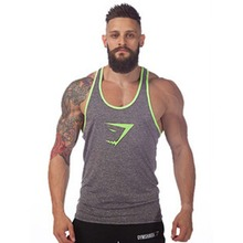 New Brand Mens Gym Singlets Cotton Tank Tops Stringer Bodybuilding Equipment Fitness Men's GYM Clothing Sports Clothes(China (Mainland))