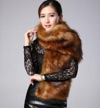2015 new faux fur collar fox fur scarves imitation raccoon fur scarves wool shawl winter woman(China (Mainland))