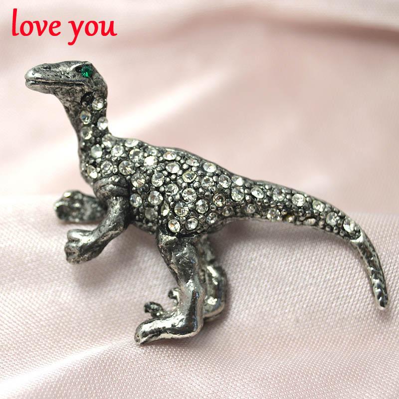 nuevo rhinestone broches para las mujeres lindas de dinosaurio animal vintage broches y prendedores