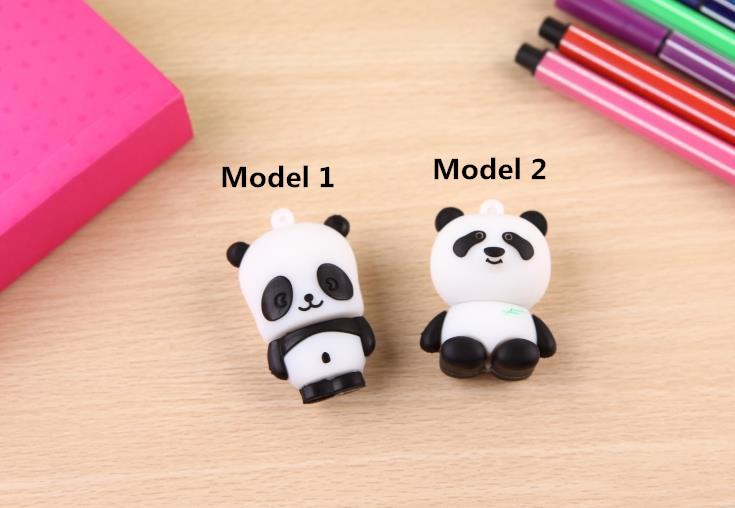 Cute Panda Model USB Flash Drive 64gb USB 2.0 Memory Storage Sticker USB Stick Pen Drive 32gb Pendrive U disk 16gb 8gb 4gb(China (Mainland))