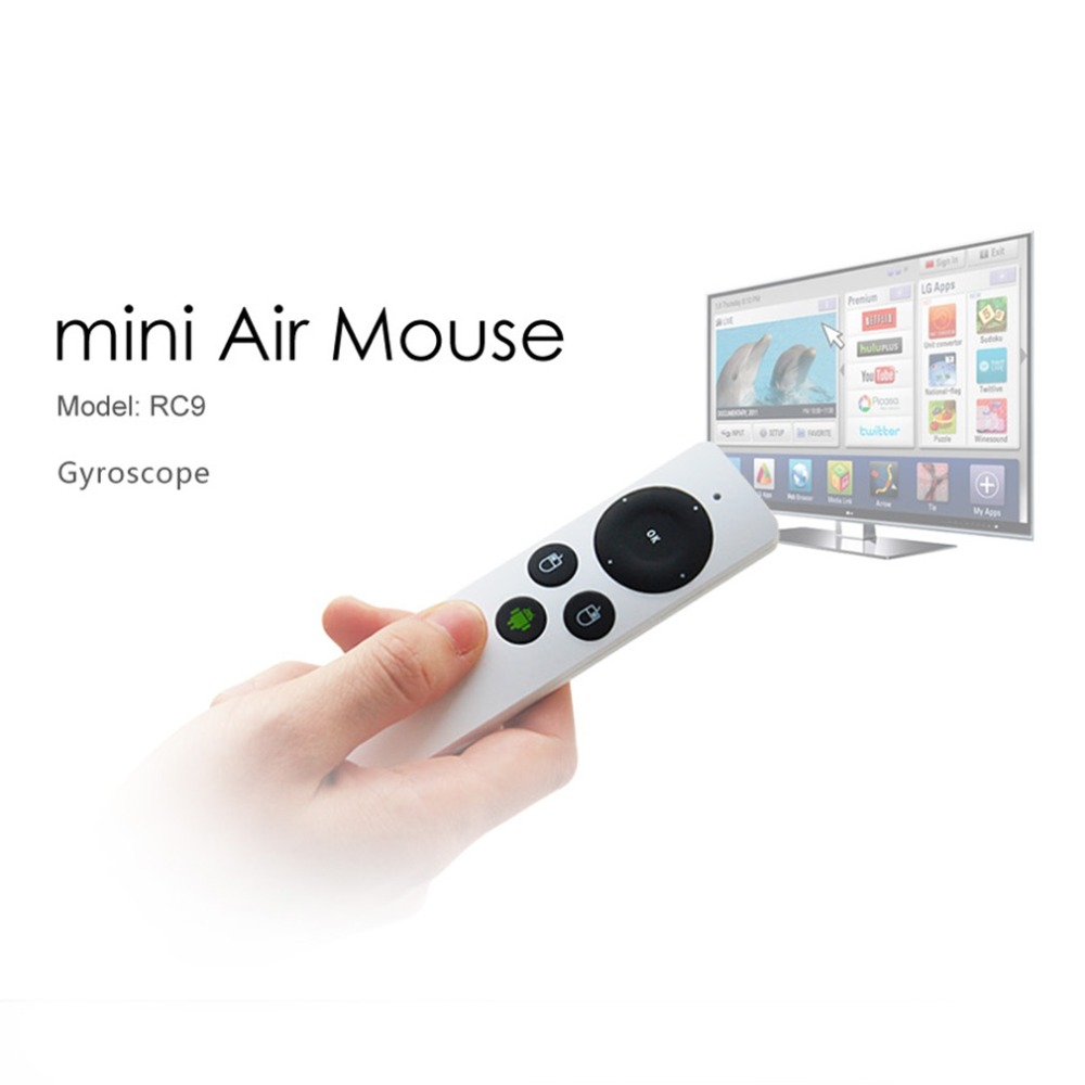 New Mini 2.4G RF Wireless Gyroscope Fly Air Mouse Remote Control for PC TV(China (Mainland))
