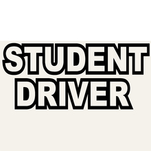 Student Driver Personalized Lettering Art Study and Work Hard Car Sticker for Bumper SUV Auto Door Kayak Vinyl Decal 9 Colors