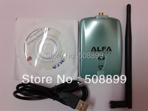 New High Power ALFA AWUS036NH 2000mw Wifi USB Adapter 5db Antenna Ralink3070 Chipset Free Shipping+Dropshipping