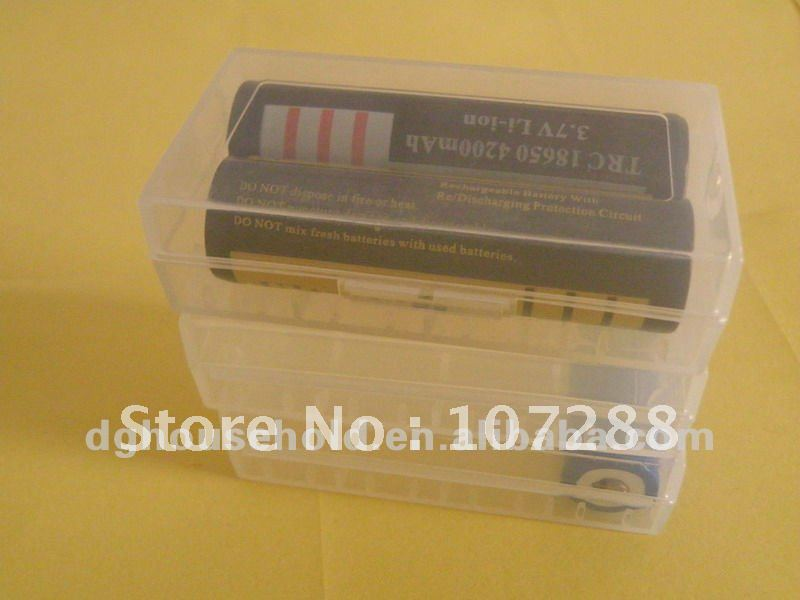plastic pack case for 18650 and 16340 battery, 100pcs per lot, free shipping charge<br><br>Aliexpress