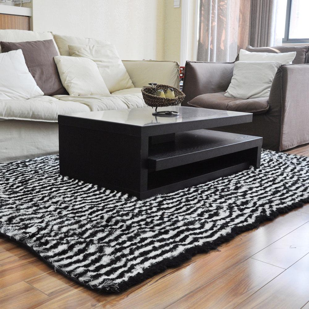 Compre zebra tapete preto e branco da for Zebra tapete
