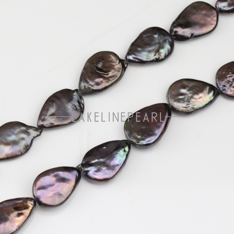 10-11x15-16mm black color drop keshi pearl strands,tear drop shape keshi pearl,freshwater coin pearls,flat keshi pearls(China (Mainland))