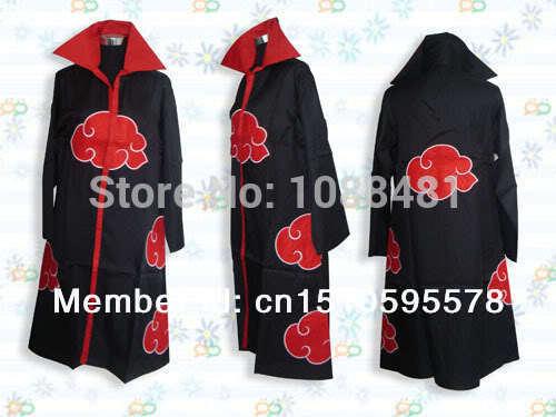 Naruto Cloak Akatsuki Cosplay Orochimaru uchiha madara Sasuke itachi cloak Robe(China (Mainland))