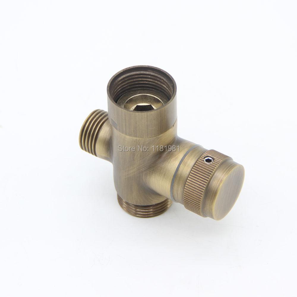 New Antique Brass Handheld Shower Hose Shower Faucet Shower Pipe 3-Way Divertor C-1(China (Mainland))