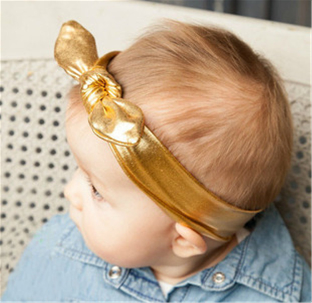 Gold Tie Baby Infant Newborn Elastic Child Prince 2015 new fashion hair band jewelry accessories headwear hairwear headband(China (Mainland))