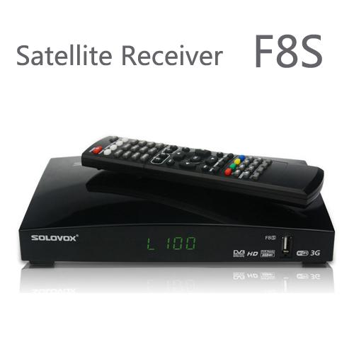 10PCS Free Shipping Original SOLOVOX F8S Satellite Receiver/ TV Box Support 2 USB WEB TV Card Sharing 3G modem(China (Mainland))