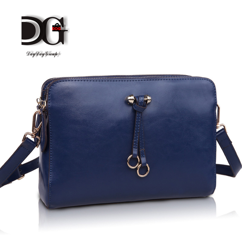 fashion elegant women messenger bag designer genuine leather candy color cross-body bags matte girls shoulder